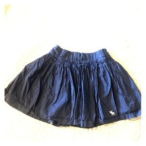 Abercrombie and Fitch Blue Cotton mini skirt